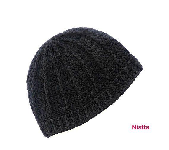 crochet christmas gift hat handmade beanie cap bonnet black