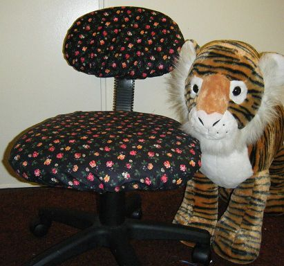 Elastic office chair cover diy