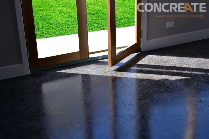 Polished concrete floors create an earthy feel when used in your living rooms.  Concreate Melbourne have the flooring solutions for your home or office.
