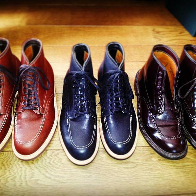 2016/11/27 23:41:54 rr.kttm #alden #オールデン #indyboots #indy #インディ #インディー #インディブーツ #インディーブーツ #405 #401 #ホーウィン #horween #コードバン #cordovan #chromeexcel #クロームエクセル #boots #ブーツ #leathershoes #leatherboots #バーガンディ #バーガンディー #burgundy #fashion #ファッション #shoes #靴 #foot #足元 #足もと