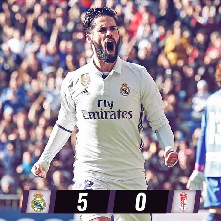 What a game today!! Isco with 2 goals! Benz, Cristiano, and Casemiro to make a total of 5! #HalaMadrid