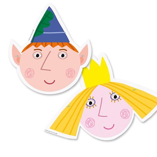 Party Ark's 'Ben & Holly Cutout Masks'