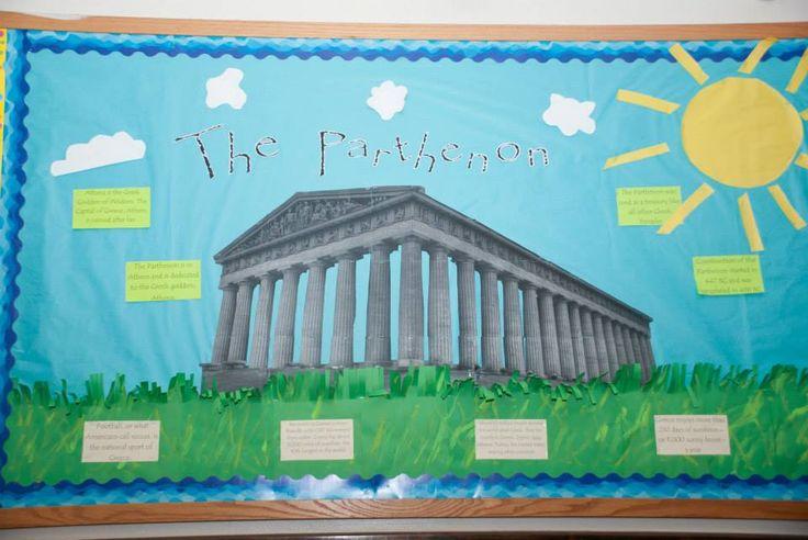 Greek Parthenon Bulletin Board #RA