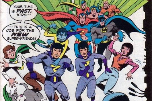 """Time for the Ape of the Day!  Fun fact: The Wonder Twins cultivated a """"nice"""" image, but occasionally their ruthless ambition to rise to the top of the superhero game shone through."""