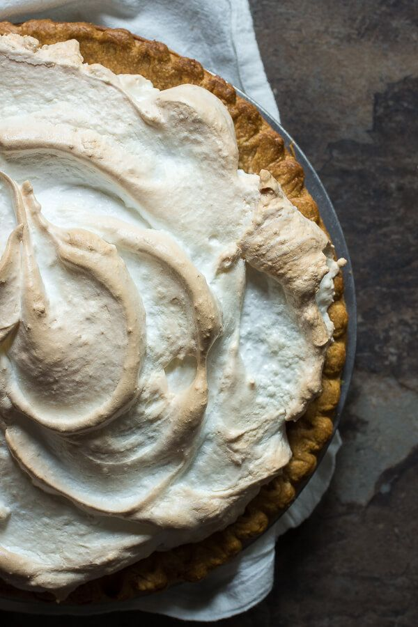 This is an epic meringue pie filled with tart blood orange curd and topped with a crunchy, chewy meringue. This will not last no matter who you make it for!
