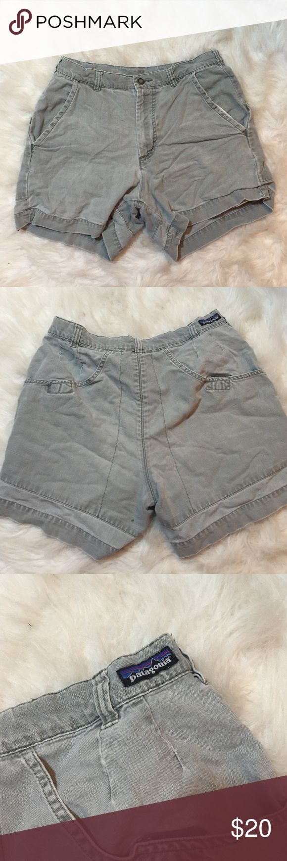 Patagonia outdoors shorts Great shorts for hiking and camping. These shorts are breathable and soft. Making any outdoor activity exceptionally comfortable. No damage, slightly worn from wear but these shorts still have a lot of life! Patagonia Shorts Cargos