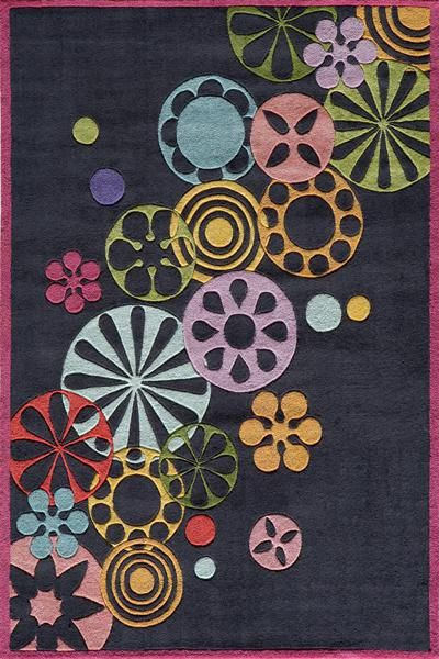loving this lil mo by momeni rugs black falling flowers rug on - Momeni Rugs