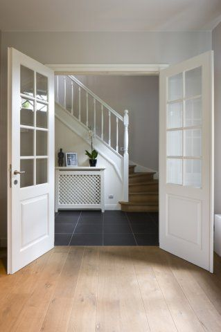 French doors to the hallway