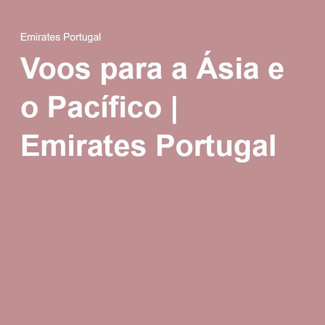 Voos para a Ásia e o Pacífico | Emirates Portugal