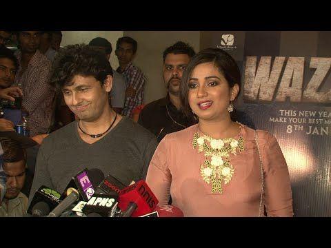 Sonu Nigam & Shreya Ghoshal at Wazir movie's song launch.