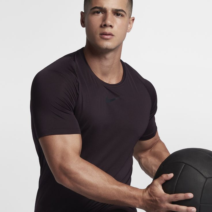 Nike Pro Men's Short Sleeve Top Size Medium (Purple)