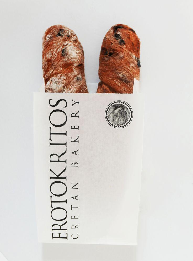 Branding & Full packaging design for Erotokritos Bakery in Santorini! #packaging #bread #bakery #design