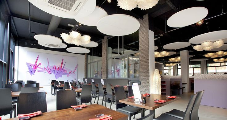 Veli 7 opal designed by Adriano Rachele lights up Shabu Shabu restaurant, Nijmegen (Netherlands)