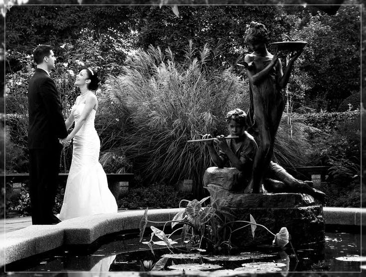 Mariage à Central Park au Conservatory Garden