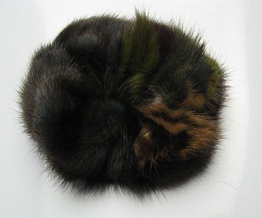 100% Handmade Real Genuine Soft MINK Fur Hair Holder Ponytail Scrunchie FD02