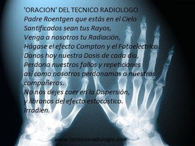'Oración' del Técnico Radiólogo