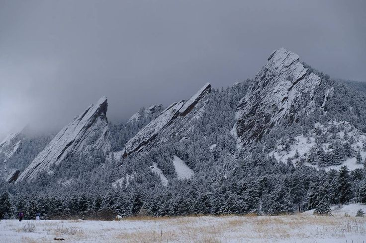 Out and about in the snow today at #Chautauqua in #Boulder #Colorado.  #BoulderCO #BoulderColorado #mountains #flatirons #landscapes #mountain