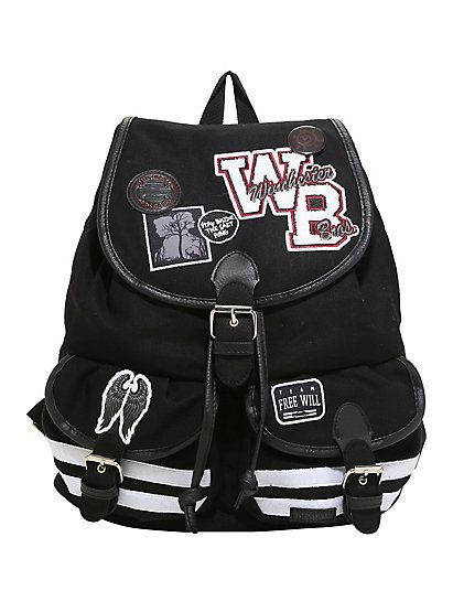 Supernatural Varsity Patch Slouch BackpackSupernatural Varsity Patch Slouch Backpack,