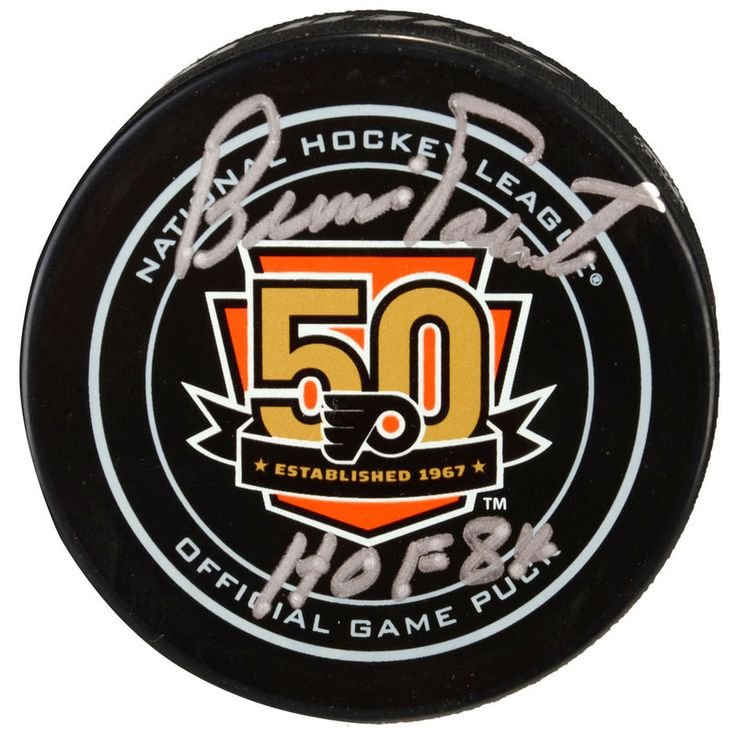 Bernie Parent Philadelphia Flyers Fanatics Authentic Autographed 50th Anniversary Season Official Game Puck with HOF 1984 Inscription