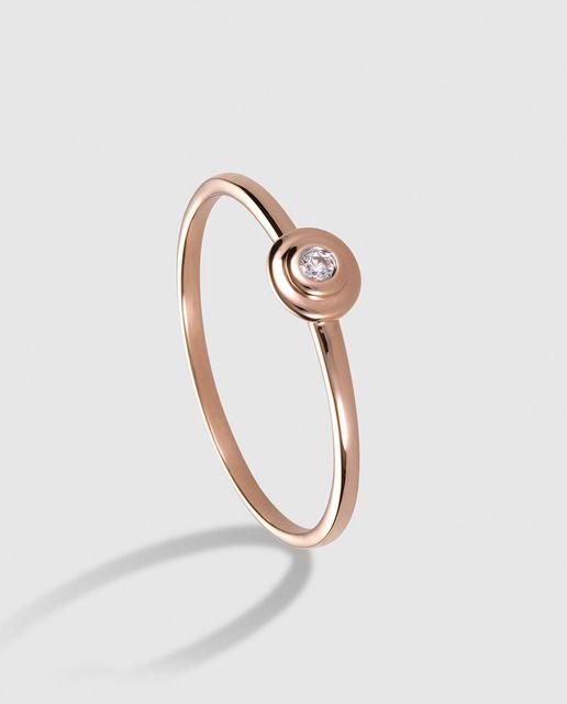 b3f082ef874b Anillo Tiny Treasures en oro rosa y diamantes El Corte Inglés