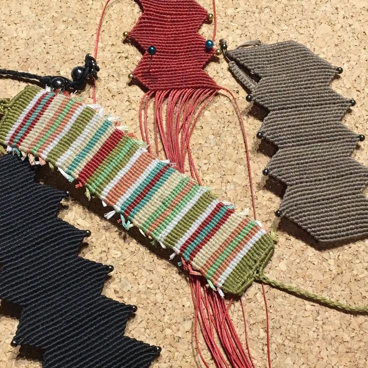 Knitting my bracelets