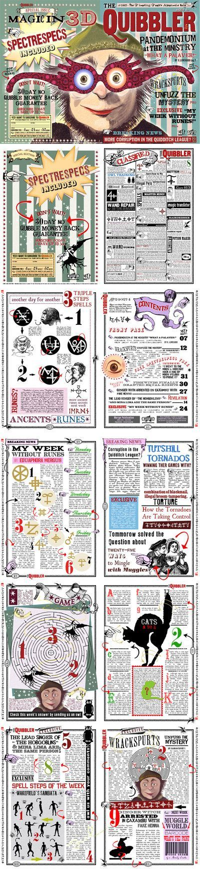 My Complete Page of Quibbler Specs by jhadha on deviantART