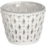 White glass tea light holder | From Baytree Interiors