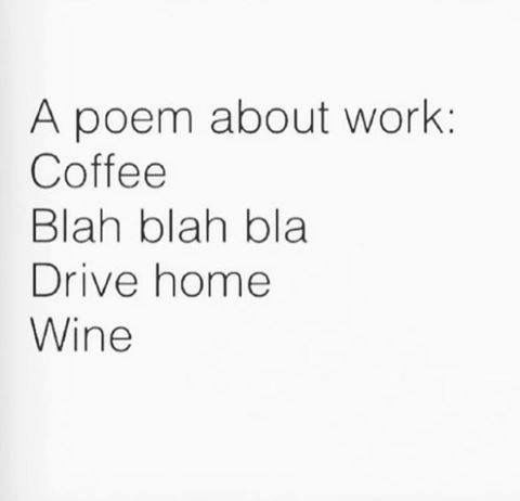 Now that's my kind of poem.