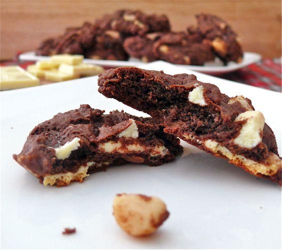 Double Chocolate White Chocolate Chunk Macadamia Nut Cookies | Cooking ...