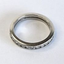 White gold ring surrounded with diamonds. $670 http://www.astercollection.com/jewelery-selection/classic-diamonds-ring.html