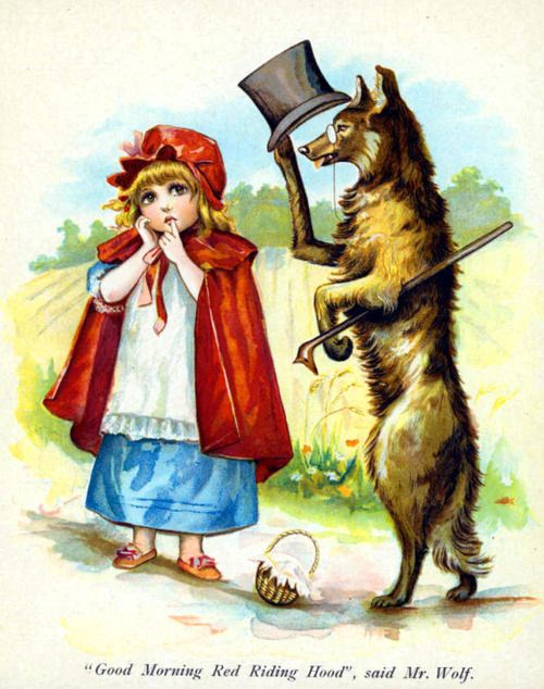"""""""Little Red Riding Hood.... vintage children's book illustration"""