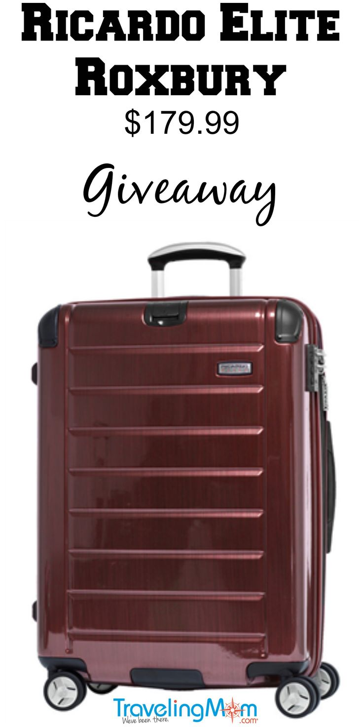 Pinterest giveaway - Win a Ricardo Elite Roxbury carry on suitcase valued at $179.99 enter by May 31st! It's easy to enter. Just click the image and find out how!