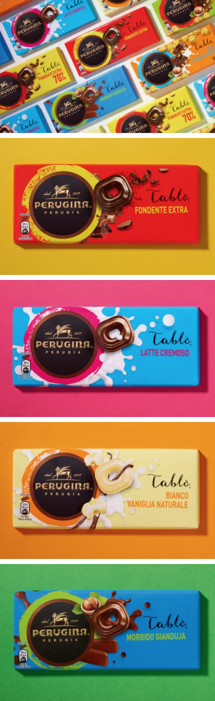 Perugina chocolate packaging by CBA