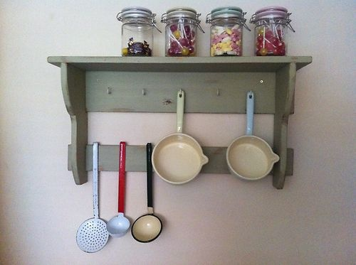 Vintage Styled Wall Shelving Unit Painted Pine Bedroom Hall Kitchen Shabby Chic