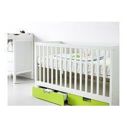 STUVA Lit enfant à tiroirs, vert - IKEA