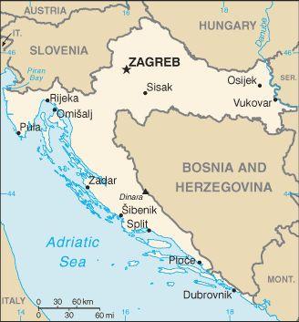 Maps of Eastern Europe: Map of Croatia