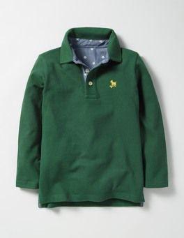 Long-sleeved Piqué Polo Shirt Boden