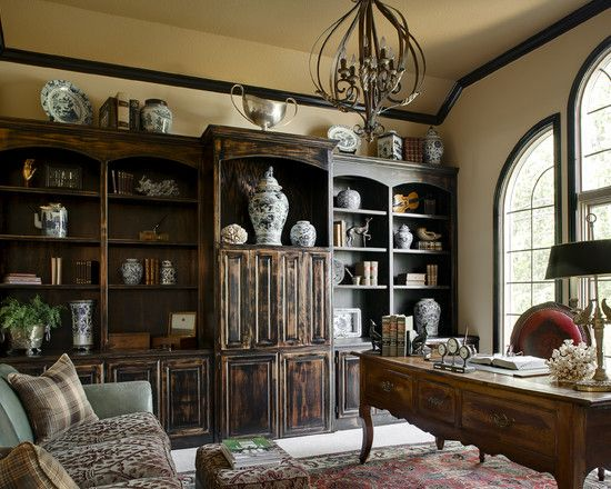 French Country Grande Traditional Home Office Design, Pictures, Remodel, Decor and Ideas - page 8