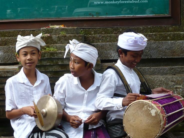 Boys at Galungan ceremony at Bali