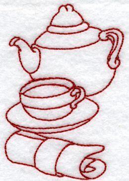 Advanced Embroidery Designs Kitchen Redwork Set Redwork Embroidery Designs Embroidery