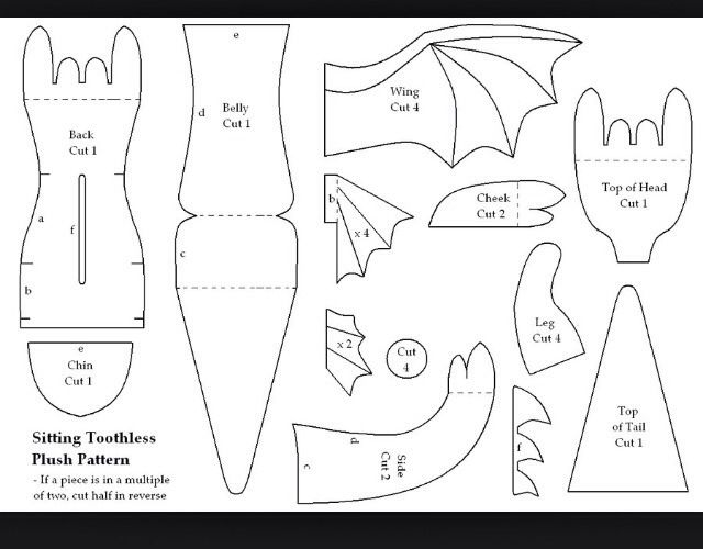 ️DIY Dreamworks:Dragons Sewing Pattern And Instructions