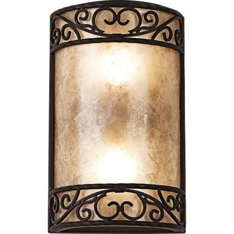 """Natural Mica Collection 12 1/2"""" High Wall Sconce Fixture 