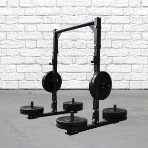 This easily adjustable lightweight yoke is designed for super heavyweight capacity. Easily adjustable crossbar enables simple customization for many different workouts; Zercher carry, yoke carry, Zercher squat, and sled training exercises. Can also be used for squats, bench or pressing movements.