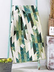 Traditional Lap Quilt & Throw Patterns - Aztec Trails Quilt Pattern from Annie's Craft Store. Order here: https://www.anniescatalog.com/detail.html?prod_id=129119&cat_id=1447