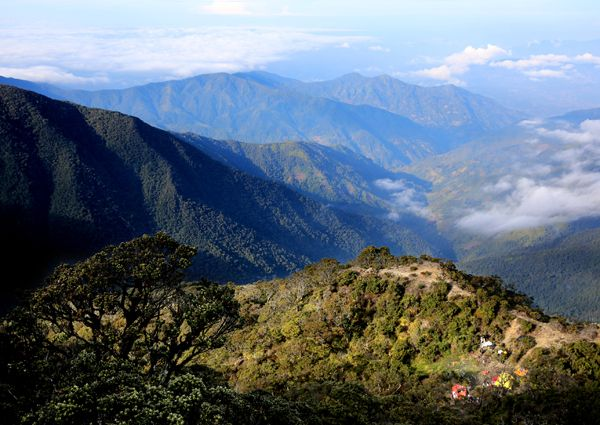 Latimojong mountains in Enrekang, South Sulawesi is a row of many small mountain with seven peaks