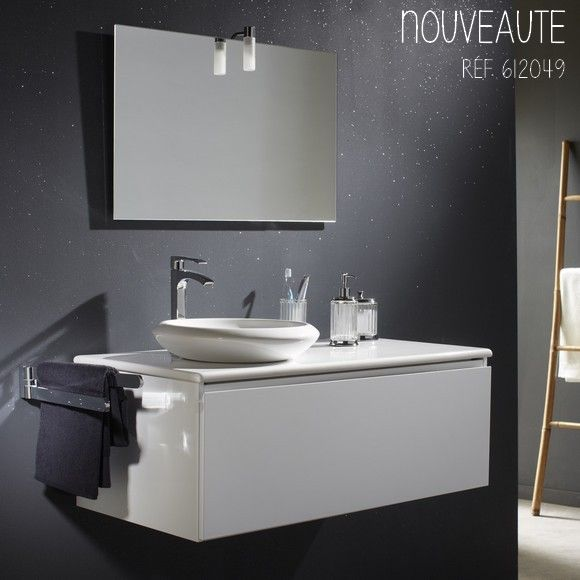 Toutes les raisons sont bonnes pour moderniser votre salle de bains avec ce meuble blanc et sa vasque ronde. #salledebain #planetebain