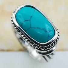 ver anillo genuina turquesa muy grande rectangular - Buscar con Google