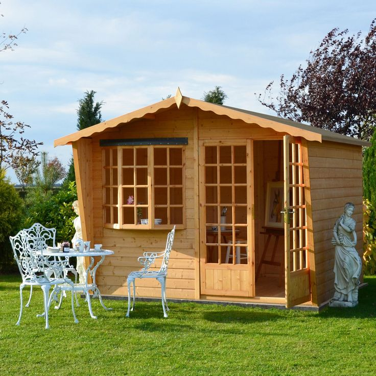 Shire Sandringham 10X8 Honey Shiplap Timber Summerhouse - with Assembly Service   Departments   DIY at B&Q