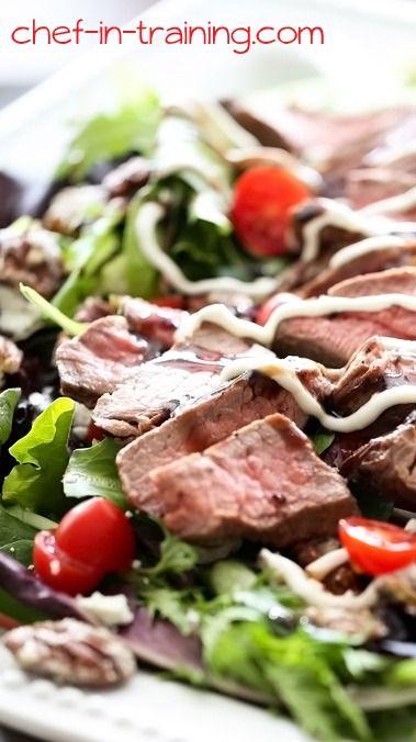 Copy Cat Brio Steak Salad with Cream Horseradish Dressing | Recipe
