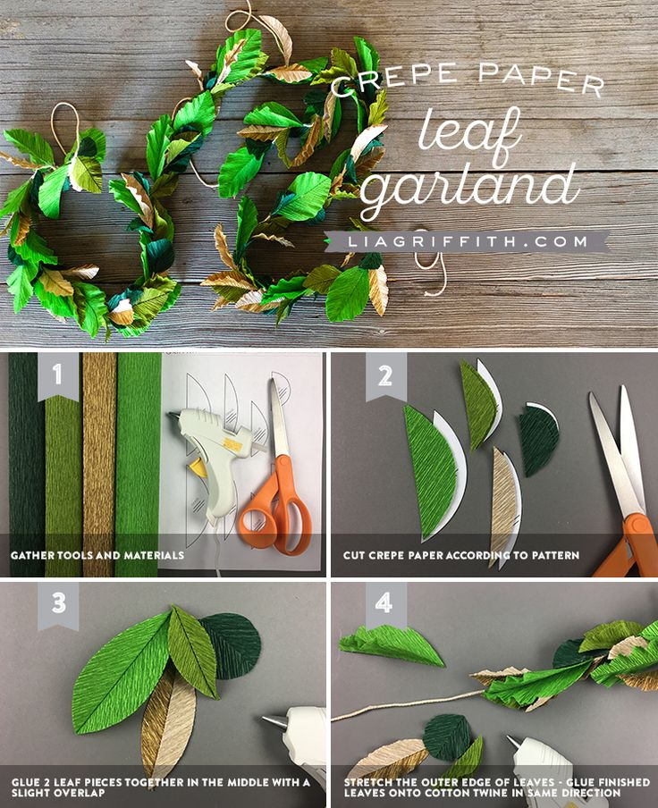 Crepe Leaf Wedding Greenery